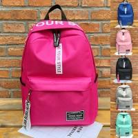 Girl Stylish New Design Daily Nylon Backpack mc401 AK1 (Free Gift)