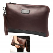 Man Classic Brown Leather Stylish Cool Clutch Bag Large Wallet MC381 YE1