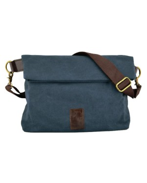 Man Stylish Plain Design Canvas Sling Bag mc410 F2
