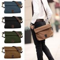 Man Stylish Plain Design Canvas Sling Bag mc410 F2