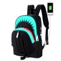 Unisex S/S Perfect Shark Cool Design Black Backpack MC431 YD1
