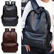 Superior Leather Backpack Couple Design Cool Multi-pockets MC414 YC1
