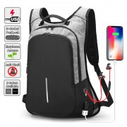 [Upgraded Version] Anti Theft Slim Version Office Laptop USB Charging Backpack MC430 LC3