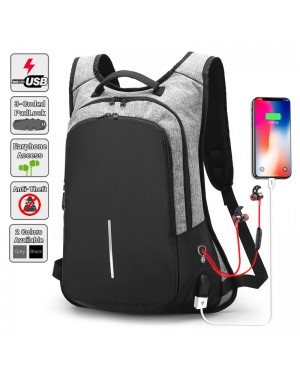 [Upgraded Version] Anti Theft Slim Version Office Laptop USB Charging Backpack MC430 YY
