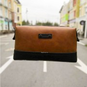 Man Stylish Classic Brown Leather Sling Bag / Clutch Hand Carry Bag MC450 YY