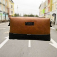Man Stylish Classic Brown Leather Sling Bag / Clutch Hand Carry Bag MC450 F3