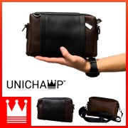 [Unichamp] MC453 Man Leather Box Sling Bag / Beg Lelaki Clutch LB3
