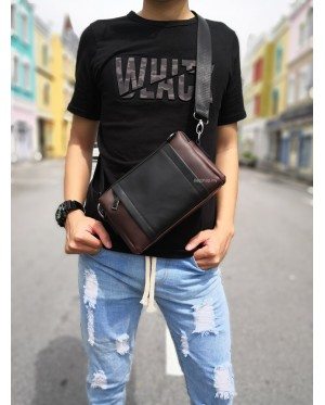 Man Leather Box Sling Bag / Beg Lelaki Clutch MC453 LC3