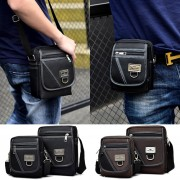 Man Stylish Oxford Nylon Box Design Sling Bag MC467 YF1