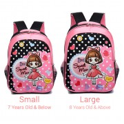 Cute Pinky Cartoon Girl Primary School Student Cushion Padded Backpack MC433 RA4