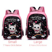 Girl Cute Rainbow Cat Design Cartoon Primary School Preschool Student Backpack MC434 YE1