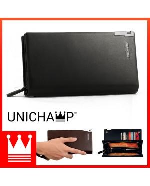 [Unichamp] MC442 Special Stylish Edition Man Long Wallet Dompet Lelaki Leather RH2/RH3