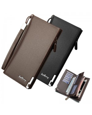 Baellerry Special Stylish Edition Man Long Wallet Dompet Lelaki Leather MC442 A1