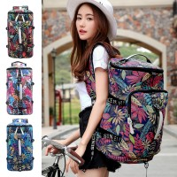 Unisex Tropical Forest Floral Colorful Weekender Duffel Barrel Backpack MC457 YG2