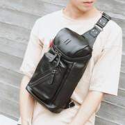 Man Large Stylish Black Crossbody Chest Pouch Bag MC483 YG1