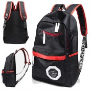 Unisex Black & Red Simple Casual Nylon Backpack mc456 RF4