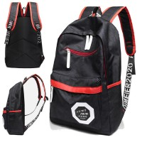 Unisex Black & Red Simple Casual Nylon Backpack mc456 YF1