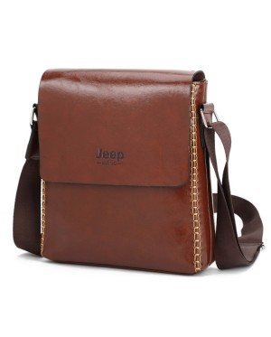 Jeep Exqusite Leather Men Sling Beg Lelaki Kulit PU Crossbody Bag MC460 LB4