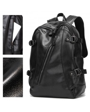 Exquisite Stylish Belt Secure Design Leather Backpack mc462 YF1