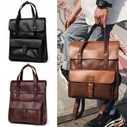 Formal Classic Leather Stylish Office Design Backpack mc481 YF1