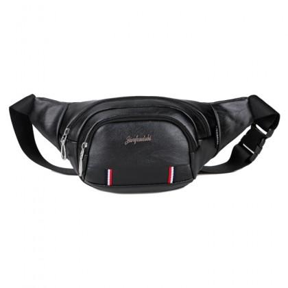 Man Leather Waist Pouch Bag Beg Lelaki Sling Stylo MC439