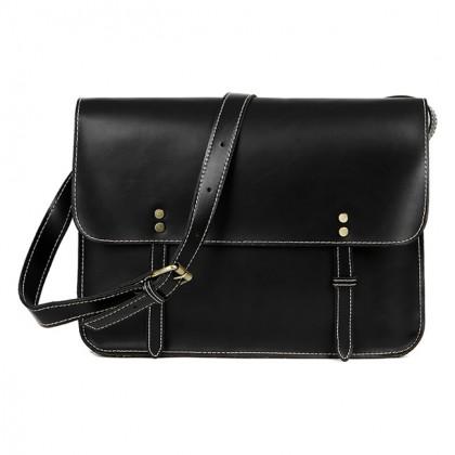 Man Box Design Leather Messenger Crossbody Sling Bag Beg Lelaki Stylo MC473