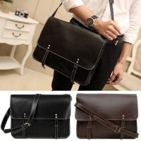 Man Box Design Leather Messenger Crossbody Sling Bag Beg Lelaki Stylo MC473 YG2
