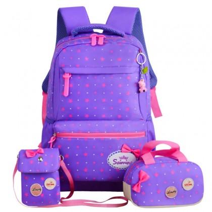 Beg Sekolah Set Budak Perempuan 3 in 1 Girl School Bag Kids Bag Beg Sekolah Budak Perempuan 小學生書包女 3合1 MC435