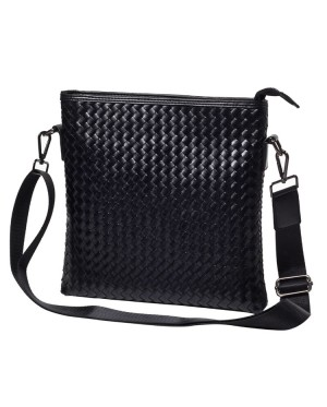 Man Braided Leather Design Large Sling Bag Beg Lelaki Sling MC475 YF2
