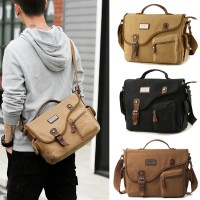 Man Stylish Design Durable Canvas Front Mini Pocket Sling Bag mc494 YT2
