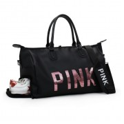 Woman PINK Design Shoe Slot Gym Bag Travel Beg mc495 YE1