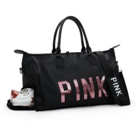 Woman PINK Design Shoe Slot Gym Bag Travel Beg mc495 YA1
