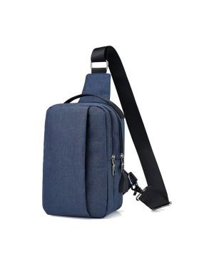 Man Canvas Stylish Double Zipper Box Chest Bag Crossbody Beg MC505 RC3