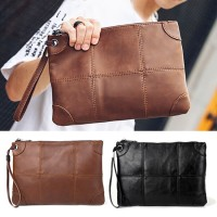 Man Special Design Lining Leather Hand Carry Clutch Bag Large Wallet MC497 F3