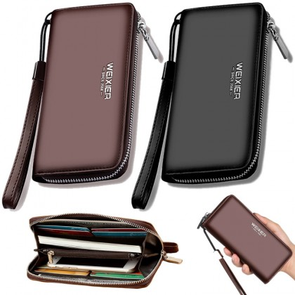Man Convenient Slim & Thin Zipper Wallet With Sling Belt MC502 RH1
