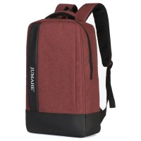 Unisex Plain Design College Student Casual Daily Padded Fabric Backpack MC504 YH2