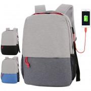 Unisex Simple City Design USB College Student Office Laptop Backpack MC508 YT5