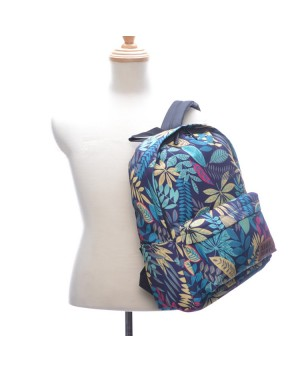 Woman Tropical Forest Design College Casual Daily Backpack mc469 YE1