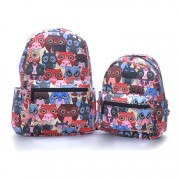 Girl Woman Colorful Owl Printing Quality Cavnas Daily Backpack MC470 YE1