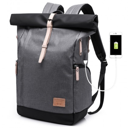 MC512 KAKA USB Office College High School City Elite Office Laptop Quality Backpack