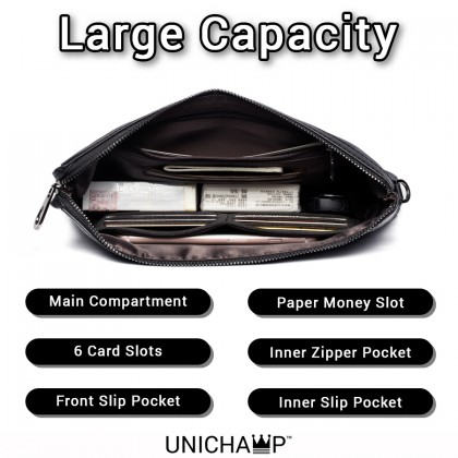 [Unichamp] MC520 Man Camouflage Nylon Design Stylish Hand Carry Phone Wallet Clutch Bag