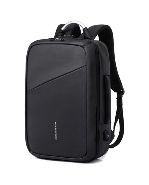 KAKA Formal Office Oynx Black Quality Daily Laptop Backpack Travel Bag MC513 YS4