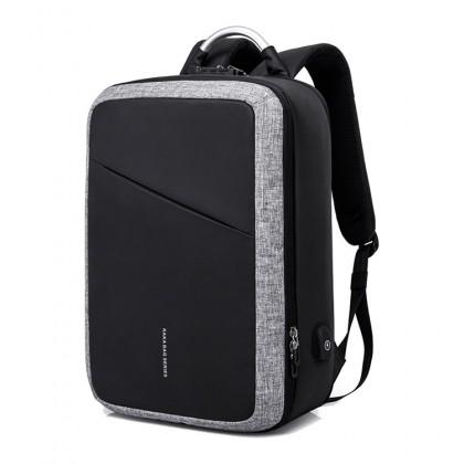 MC513 KAKA Formal Office Oynx Black Quality Daily Laptop Backpack Travel Bag