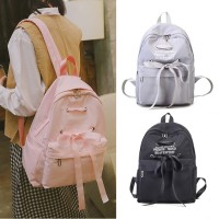 Woman Fancy Ribbon Girlish Design College High School Student Backpack mc526 RD1
