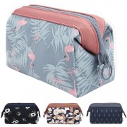 Woman Travel Cosmetic Bag Flamingo Korean Style Cube Pouch Beg LB3
