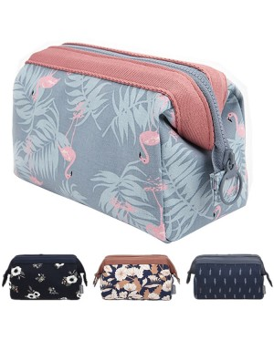 Woman Travel Cosmetic Bag Flamingo Korean Style Cube Pouch Beg YY