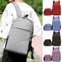 Unisex Simple Design Quality 2 in 1 Nylon Laptop Backpack College Daily Office Bag MC518 RA6