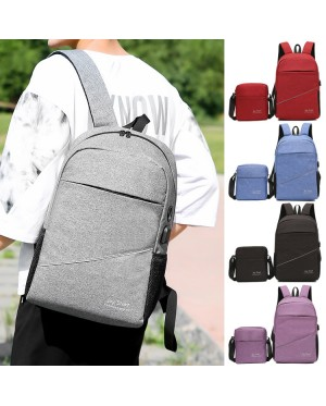 Unisex Simple Design Quality 2 in 1 Nylon Laptop Backpack College Daily Office Bag mc518 LD3