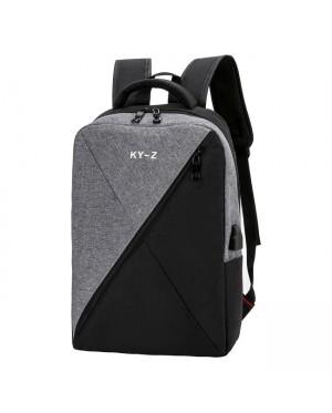 Unisex Oblique Design City Urban Laptop Backpack College Student Office Bag mc519 YP1