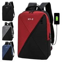 Unisex Oblique Design City Urban Laptop Backpack College Student Office Bag mc519 LB2